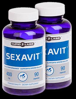 2 бутилки с хапчета за потентност и сперма Sexavit